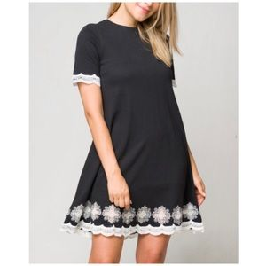 Dresses & Skirts - Embroidered Knit Dress